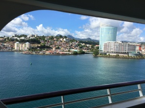 This was a pretty cool view from the cruise ship balcony.