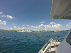 This is looking at Fort-de-France and the Royal Caribbean boat ahead.